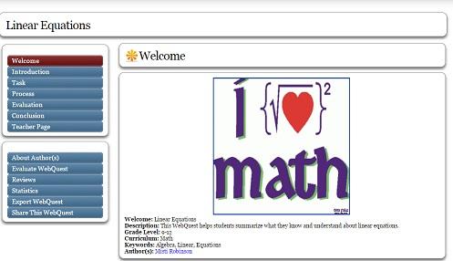 Пример веб-квеста