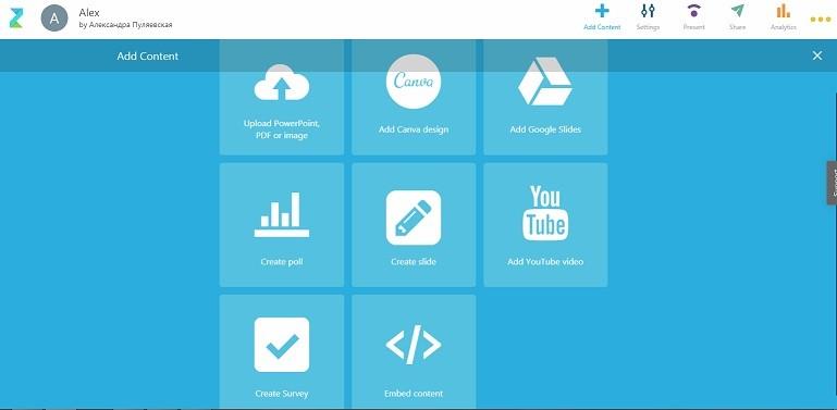 Zeetings- платформа создания и трансляции презентаций